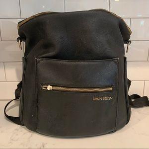 Original Fawn Design diaper bag back pack- black
